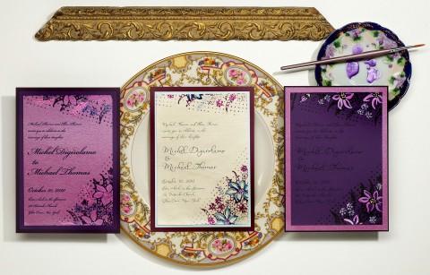 violet-hand-painted-wedding-invitations