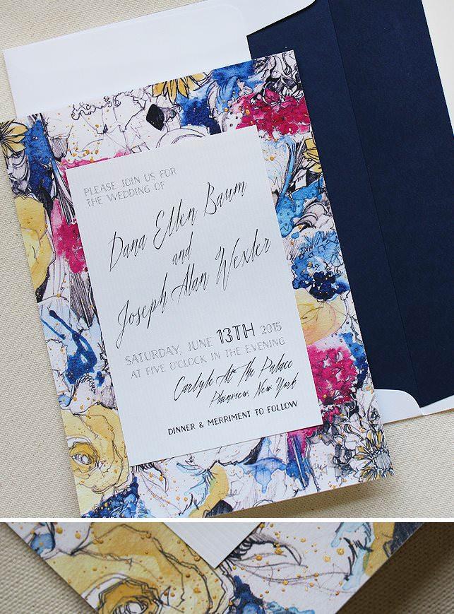 Floral Pattern Wedding Invitations