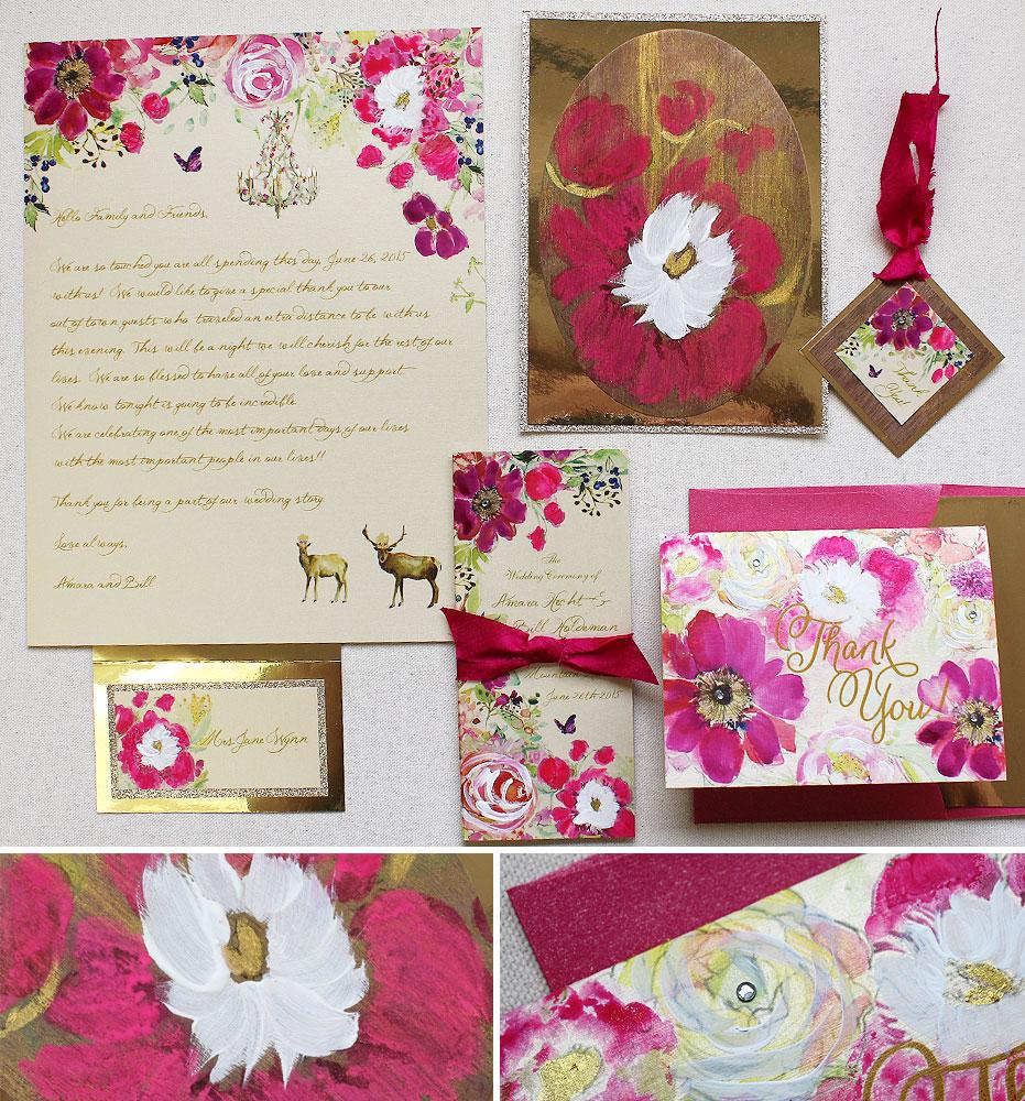 fuchsia-floral-wedding-accessories