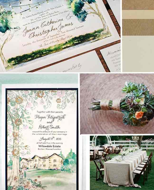 rustic-outdoor-wedding-watercolor-wedding-invitation