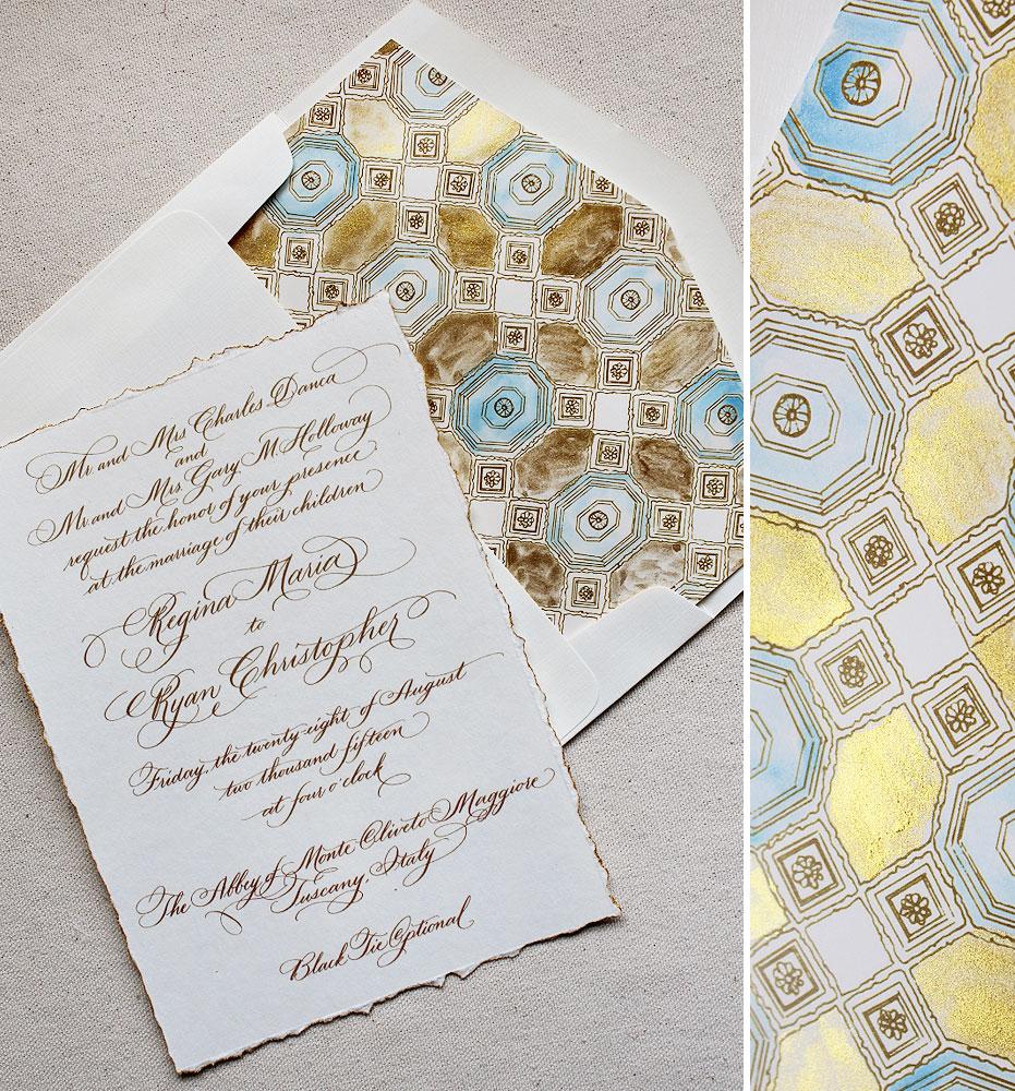 italy-gold-foil-wedding-invitation