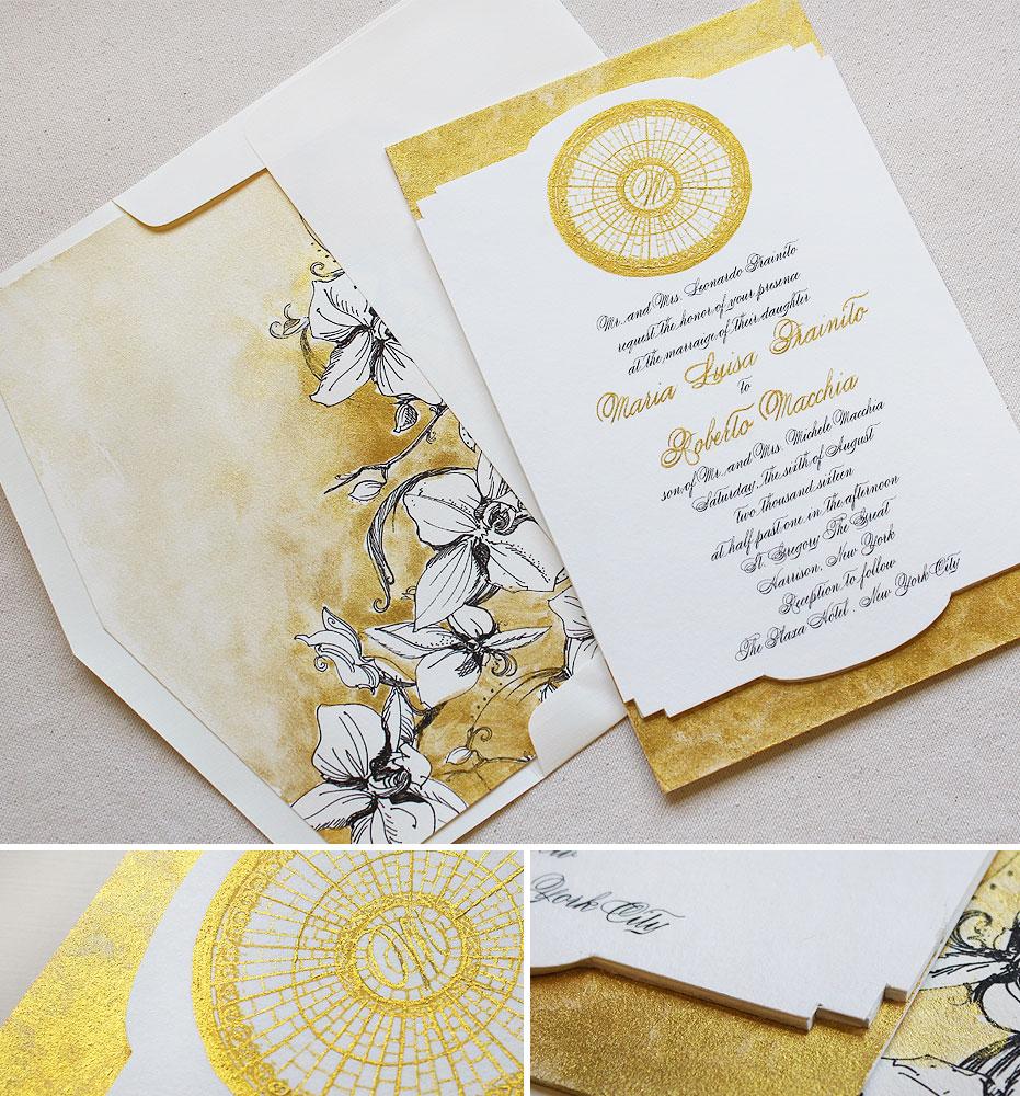 monogram-foil-orchid-wedding-invite