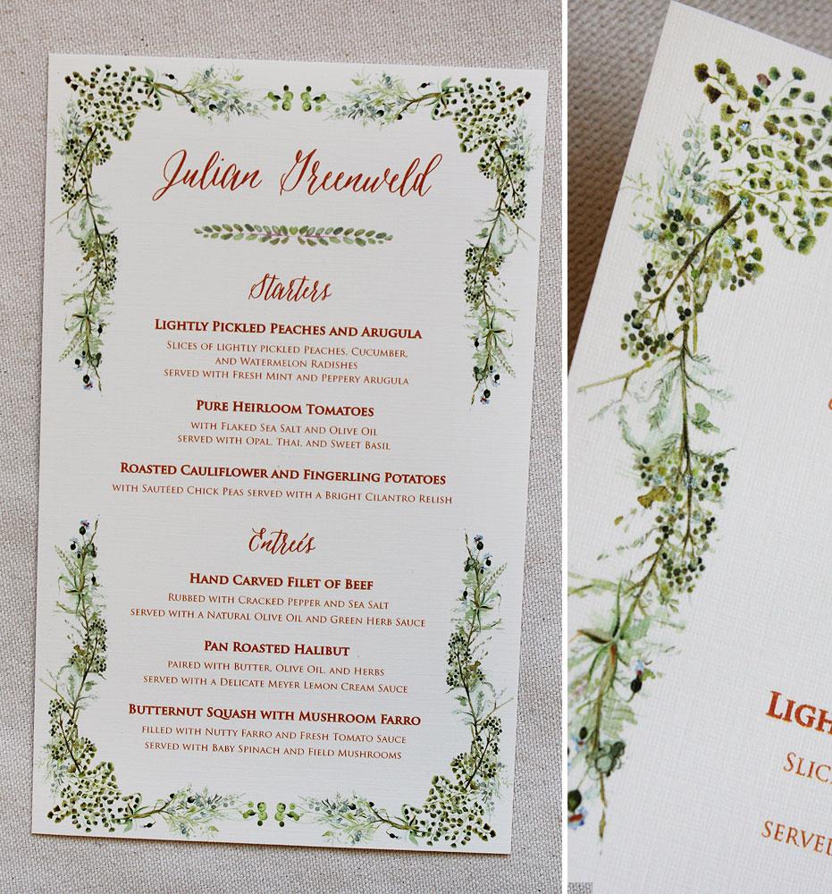 botanical-wedding-menu