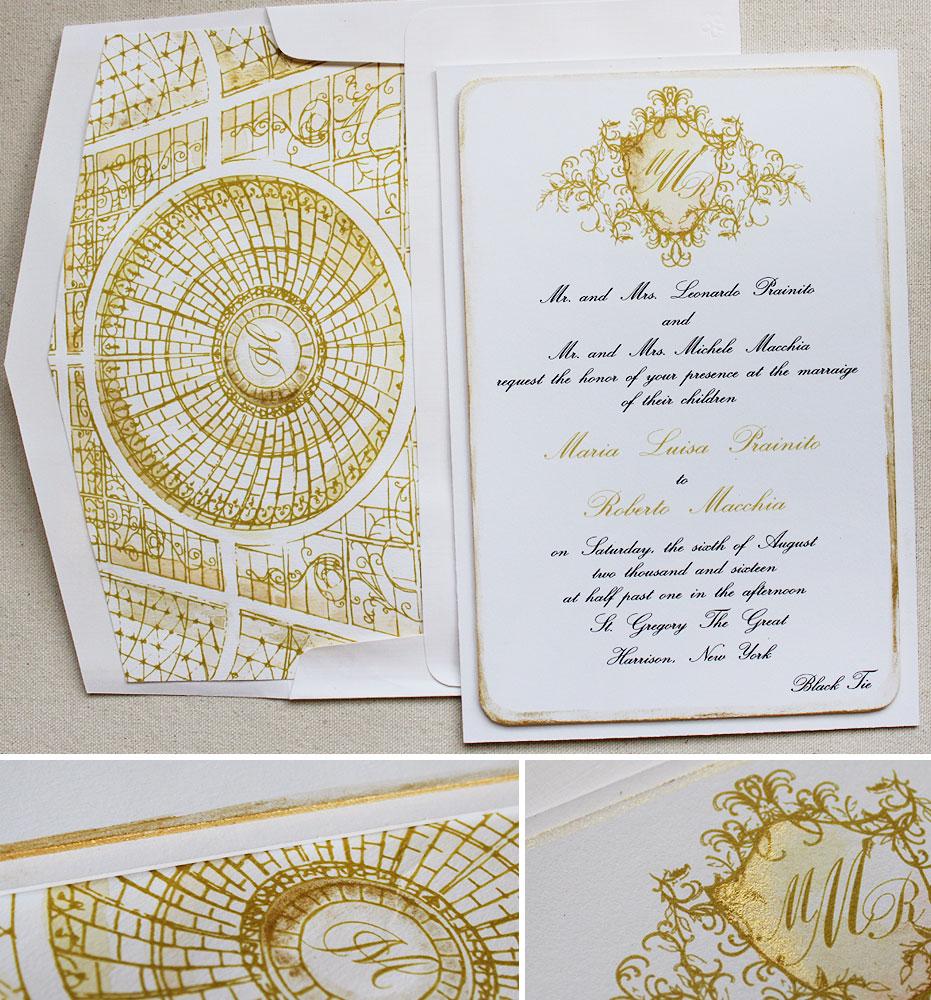 foil-monogram-wedding-invite