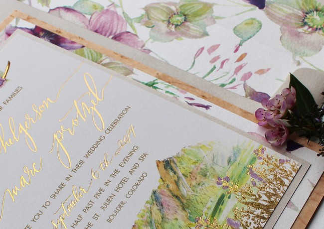 rustic-foil-and-watercolor-wedding-invitations