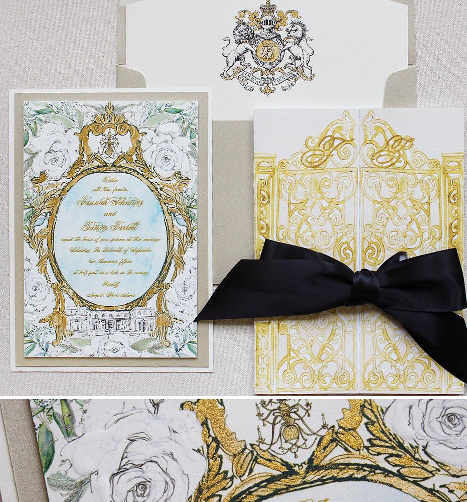 gold-frame-floral-wedding-invite