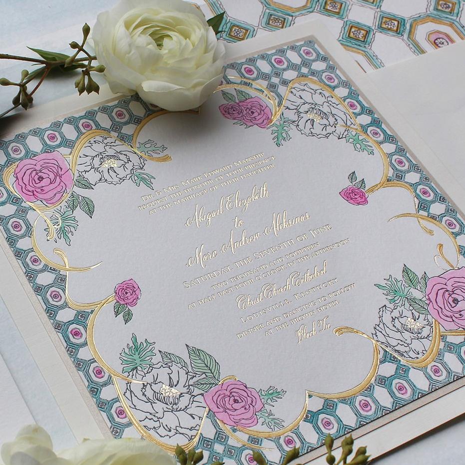 watercolor-foil-wedding-invitations