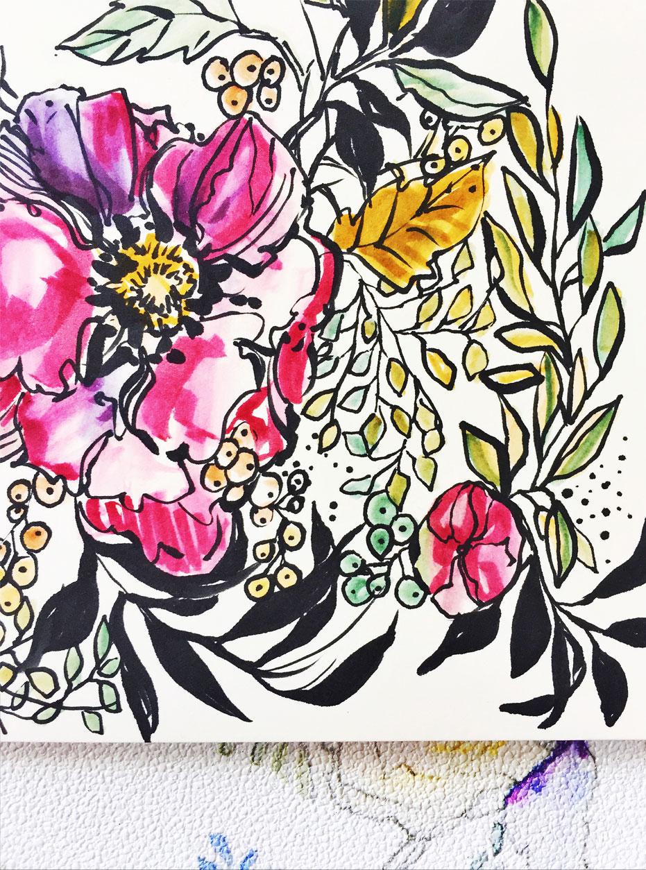 bold-watercolor-flower-pattern