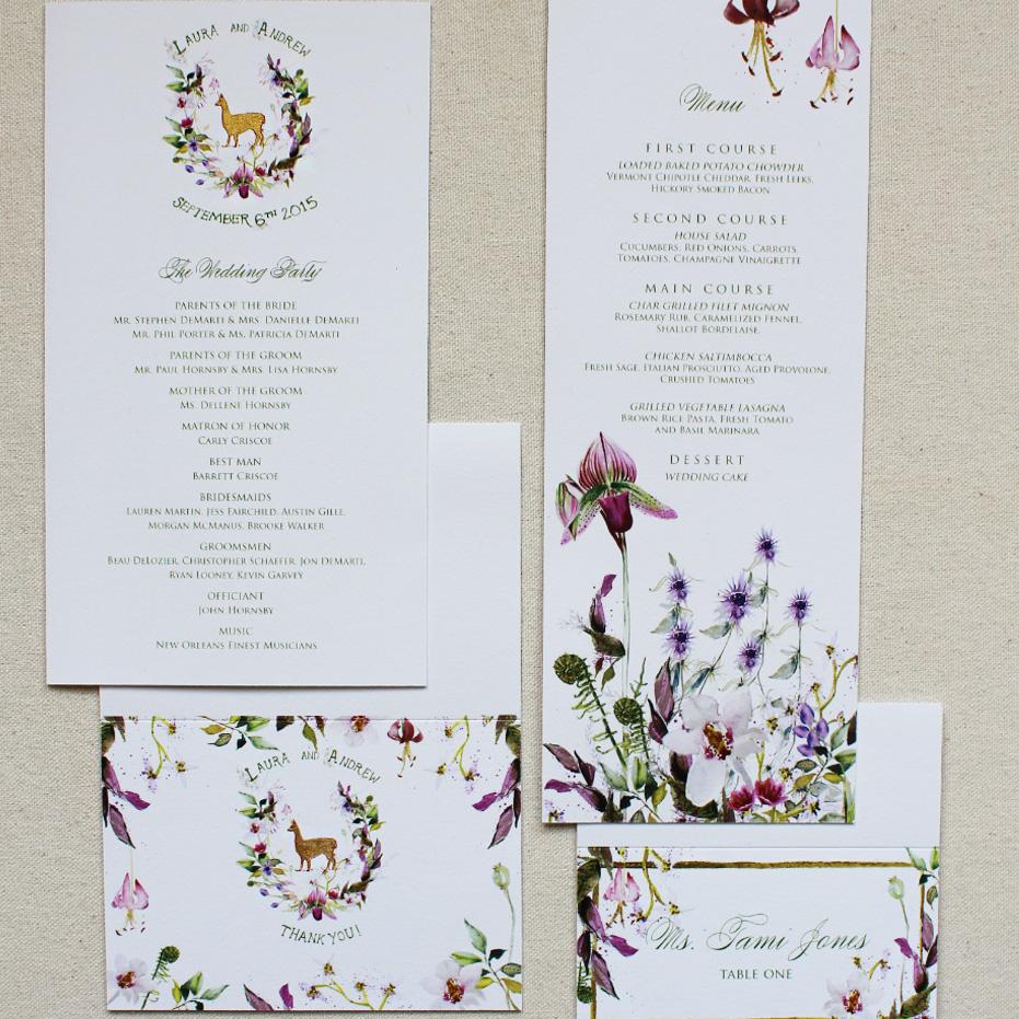 botanical-watercolor-flower-wedding-menu-program
