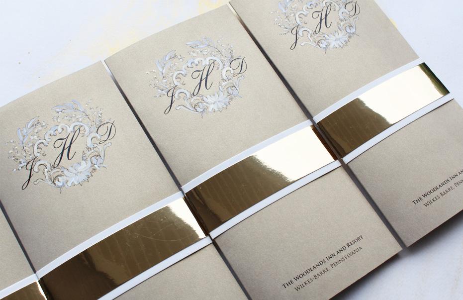 custom-gold-regal-wedding-menus
