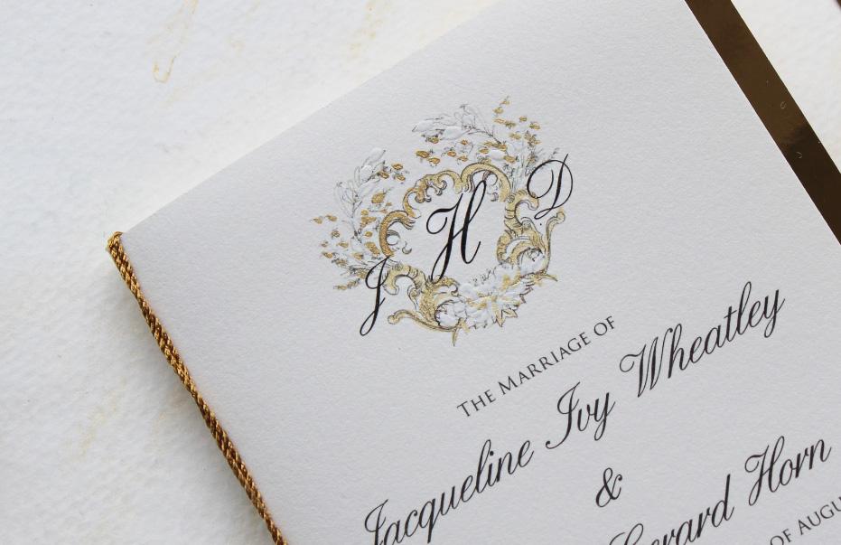 custom-gold-regal-wedding-programs