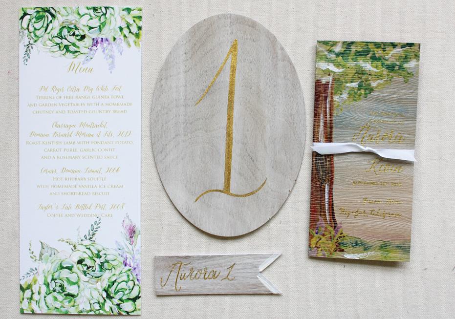 rustic-succulent-wedding-menu-program-tablenumber