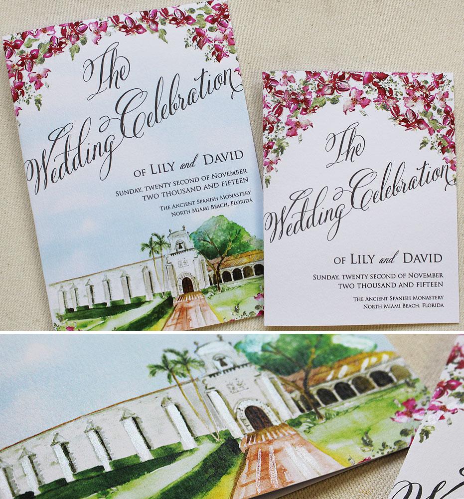 fuchsia-floral-wedding-stationery