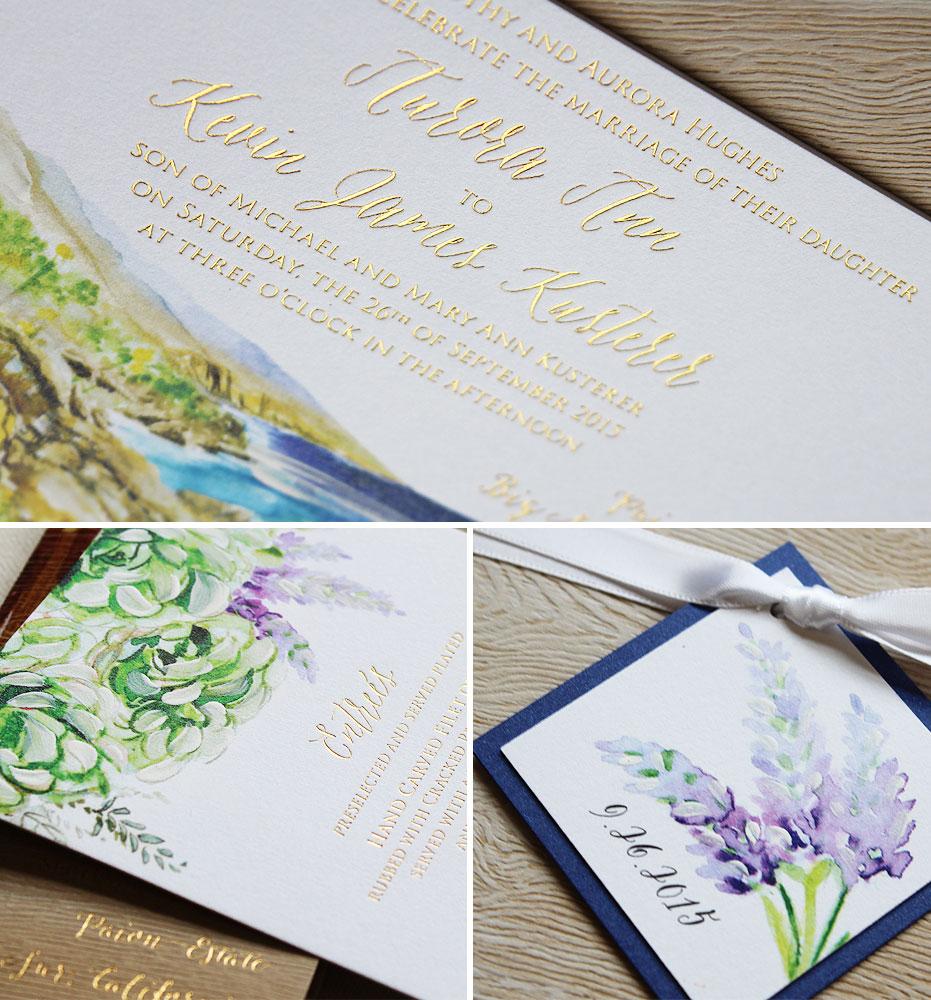 gold-foil-rustic-wedding-invitations