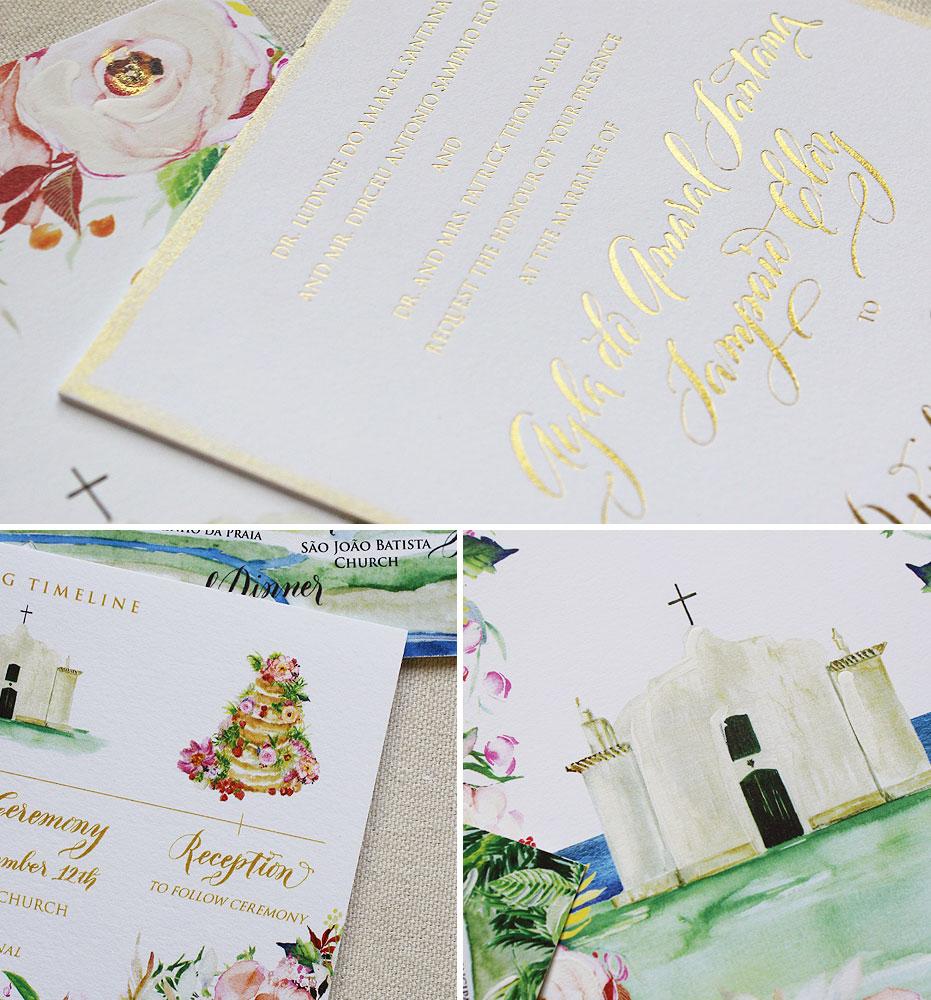 gold-foil-wedding-stationery
