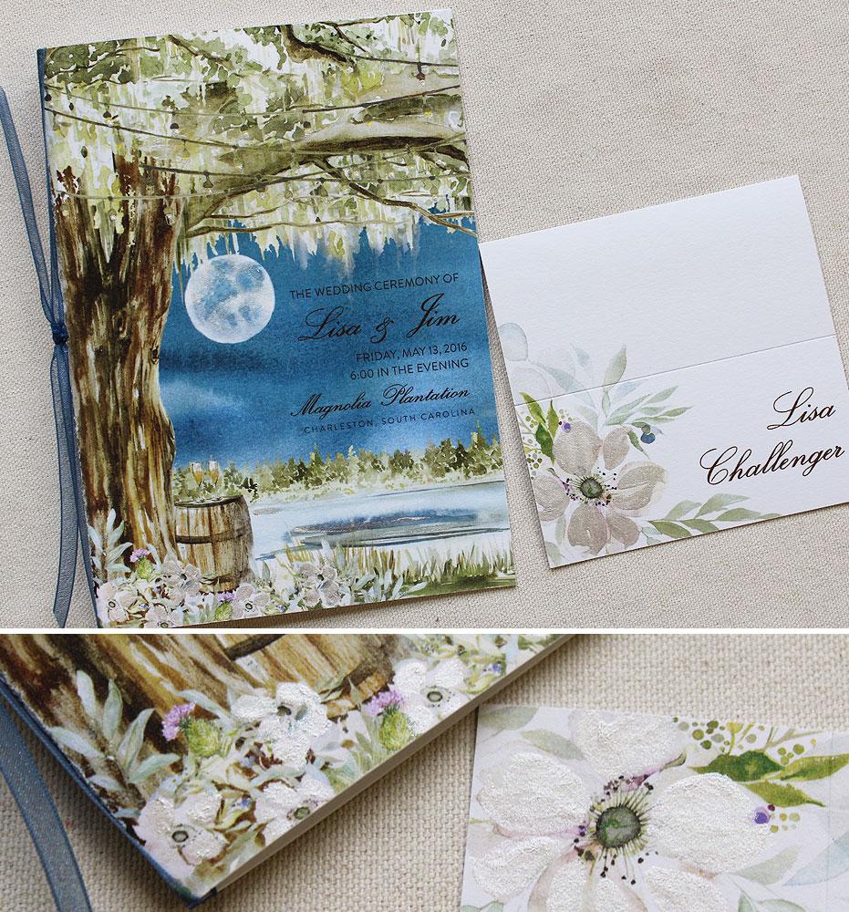 watercolor-tree-wedding-program