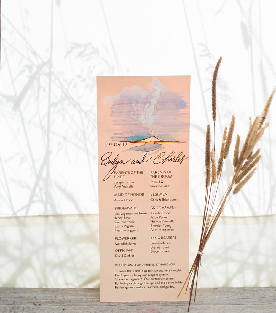 yellowstone-wedding-program-watercolor