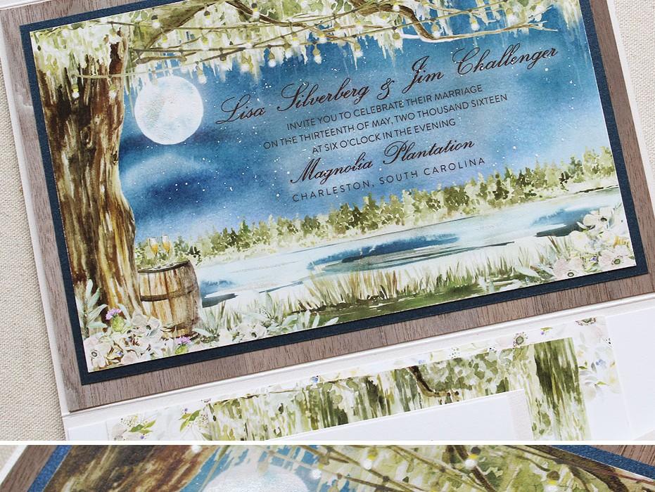 Live oak wedding invitation archives momental for Magnolia tree wedding invitations