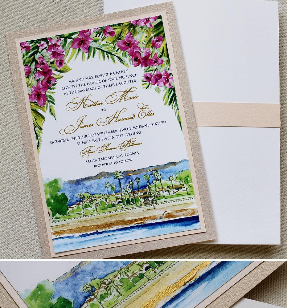 orchid-wedding-invitation