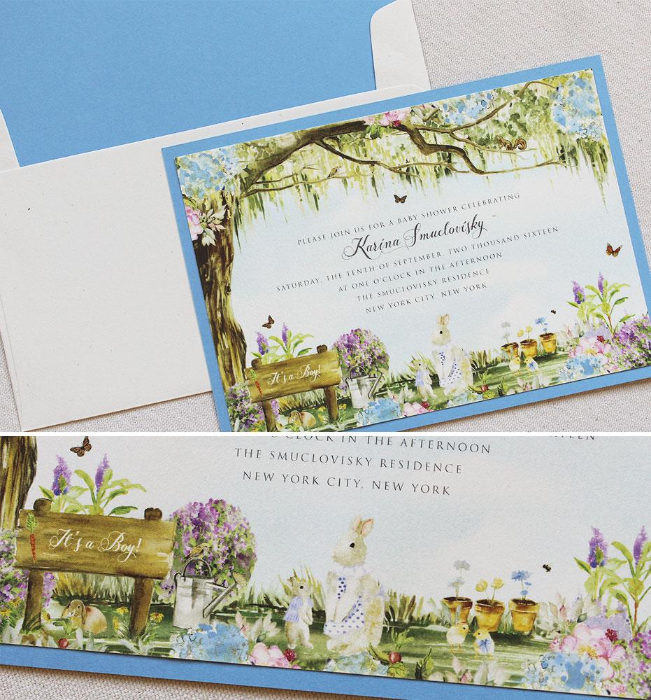 woodland-baby-shower-invitations