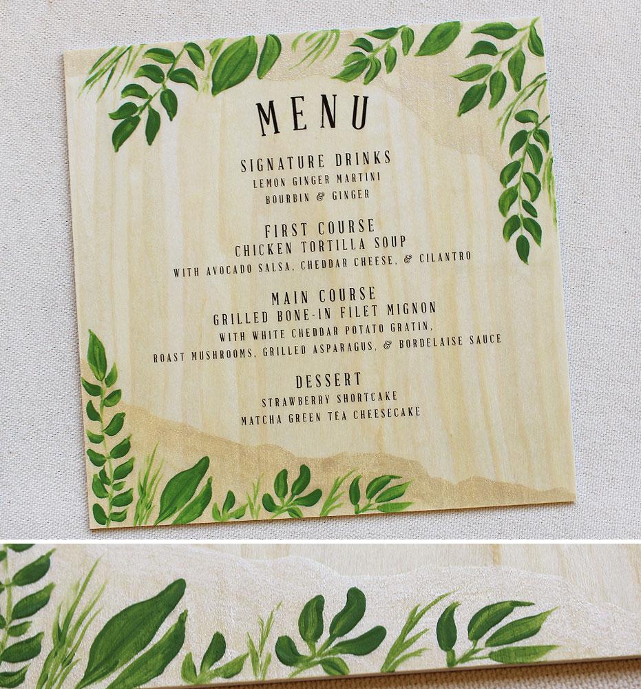 rustic-leaf-wedding-menu
