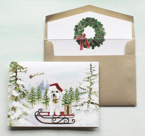 personalized-watercolor-Christmas-cards