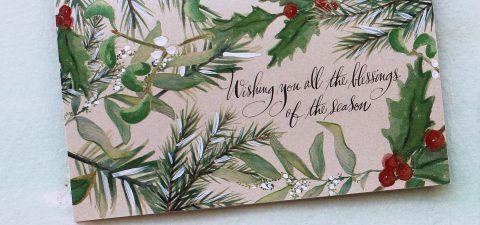 pine-bough-Christmas-cards