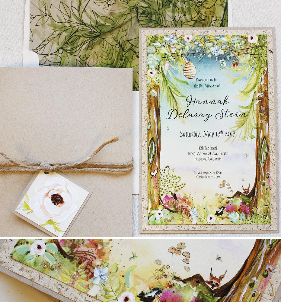 hand-painted-bat-mitzvah-invitation