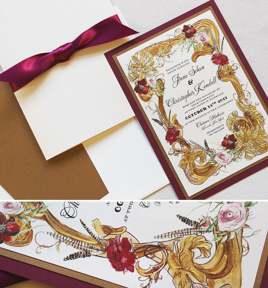 gold-frame-wedding-invitation