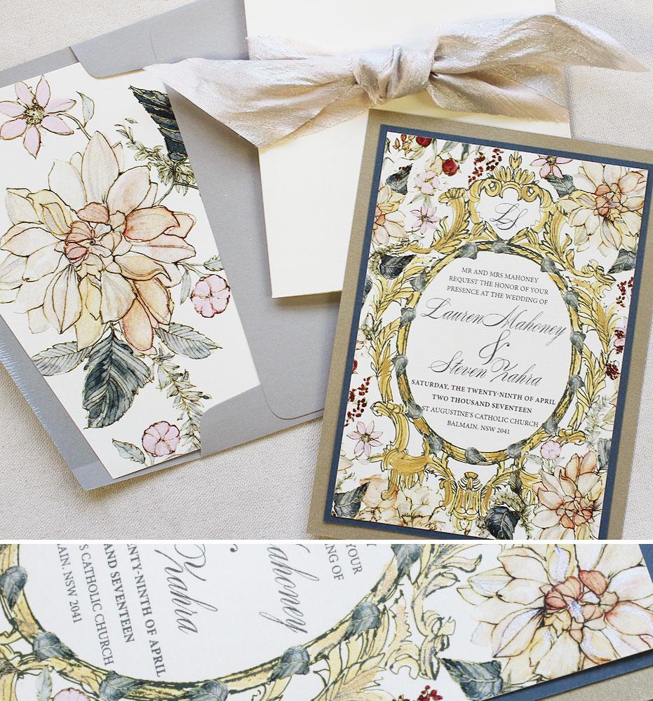 gold-frame-wedding-invites