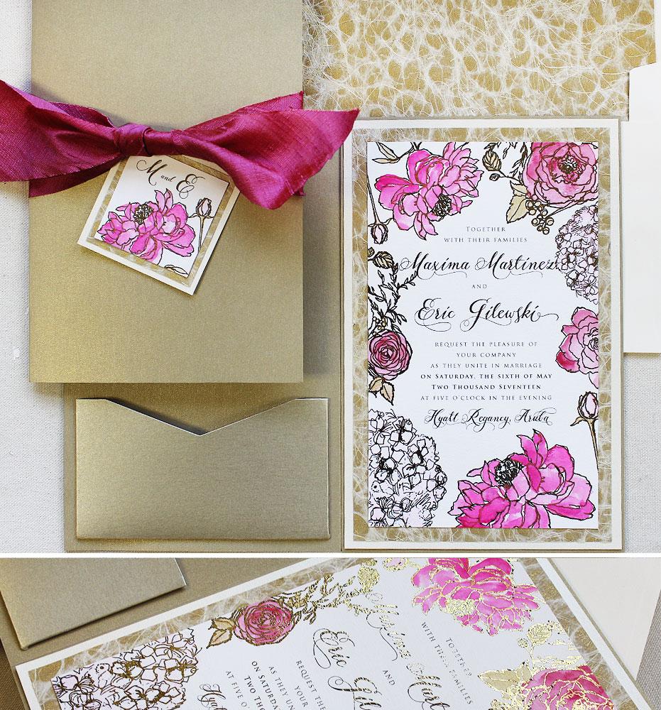 gold-foil-wedding-invites