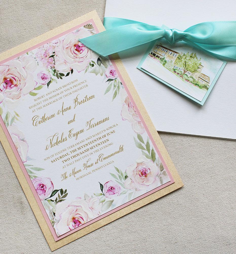 pink-rose-wedding-invitation