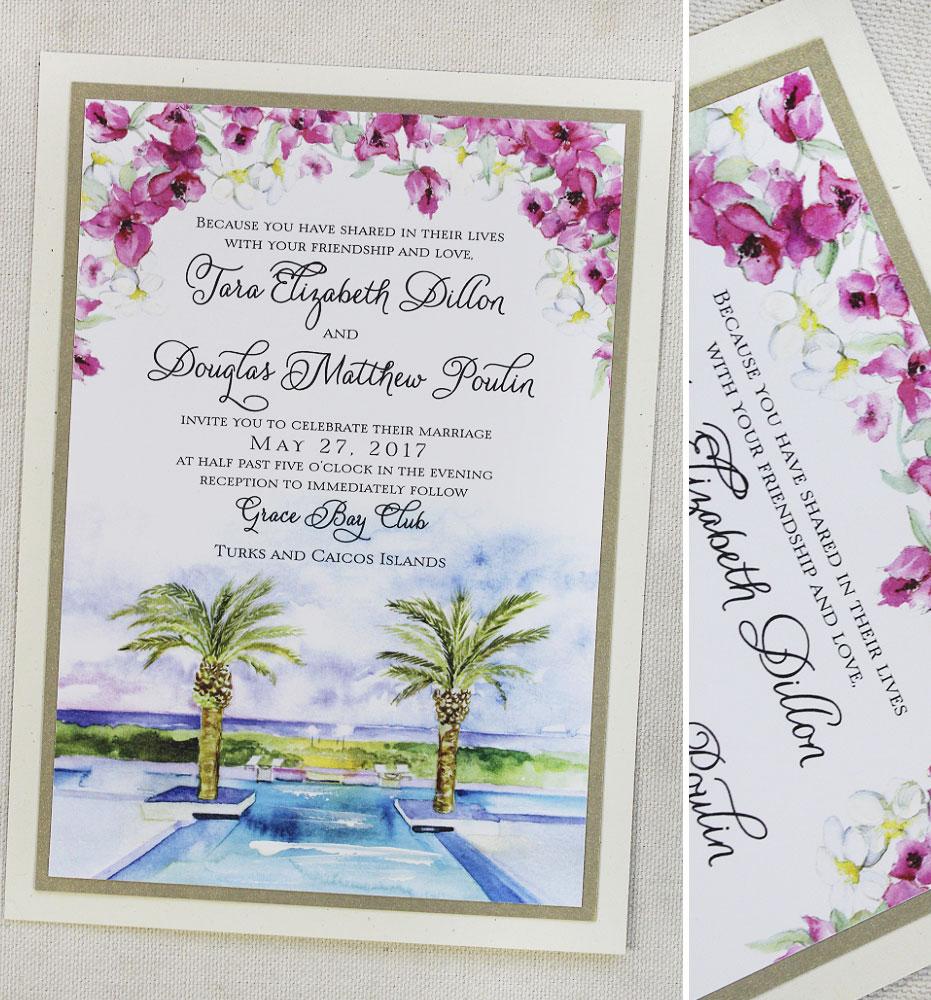 fuchsia-floral-wedding-invitation