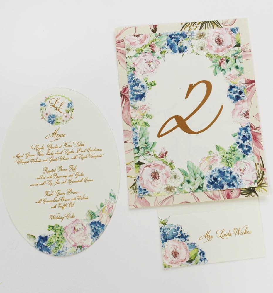 Blue Hydrangea Wedding Stationery