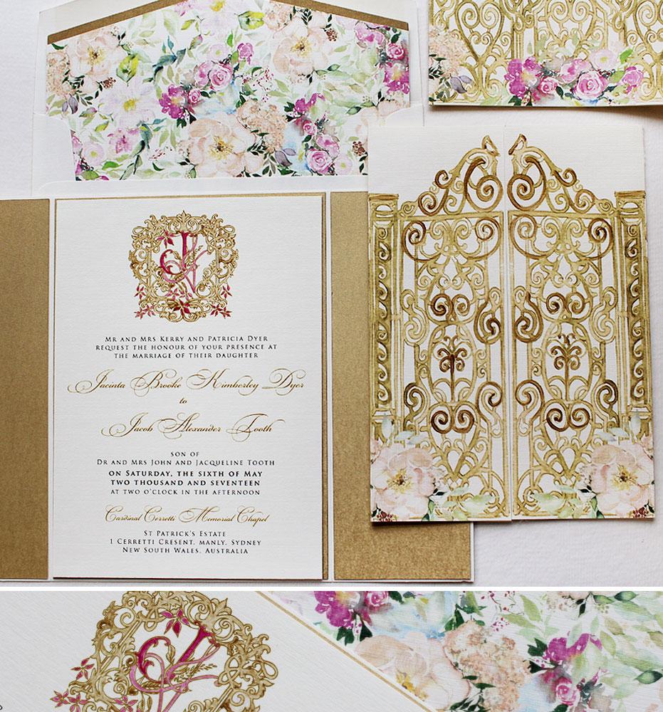 flora-pattern-wedding-invitation
