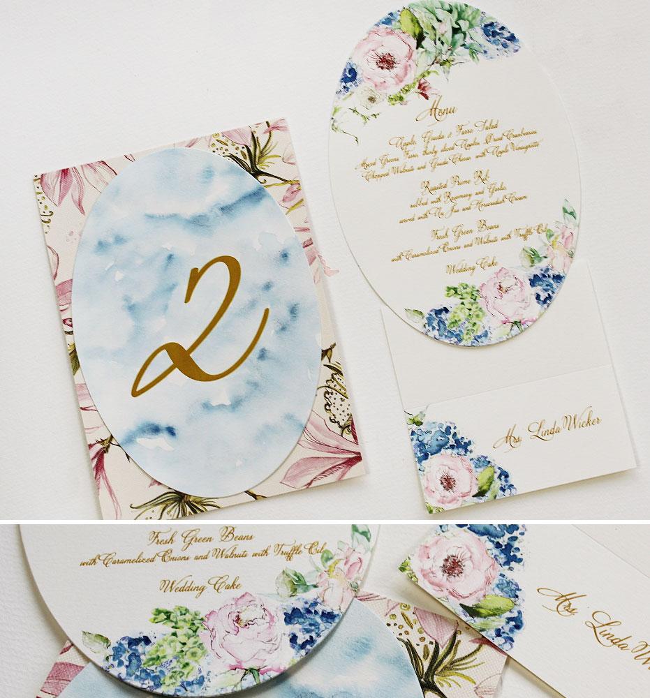 Hydrangea Wedding Stationery