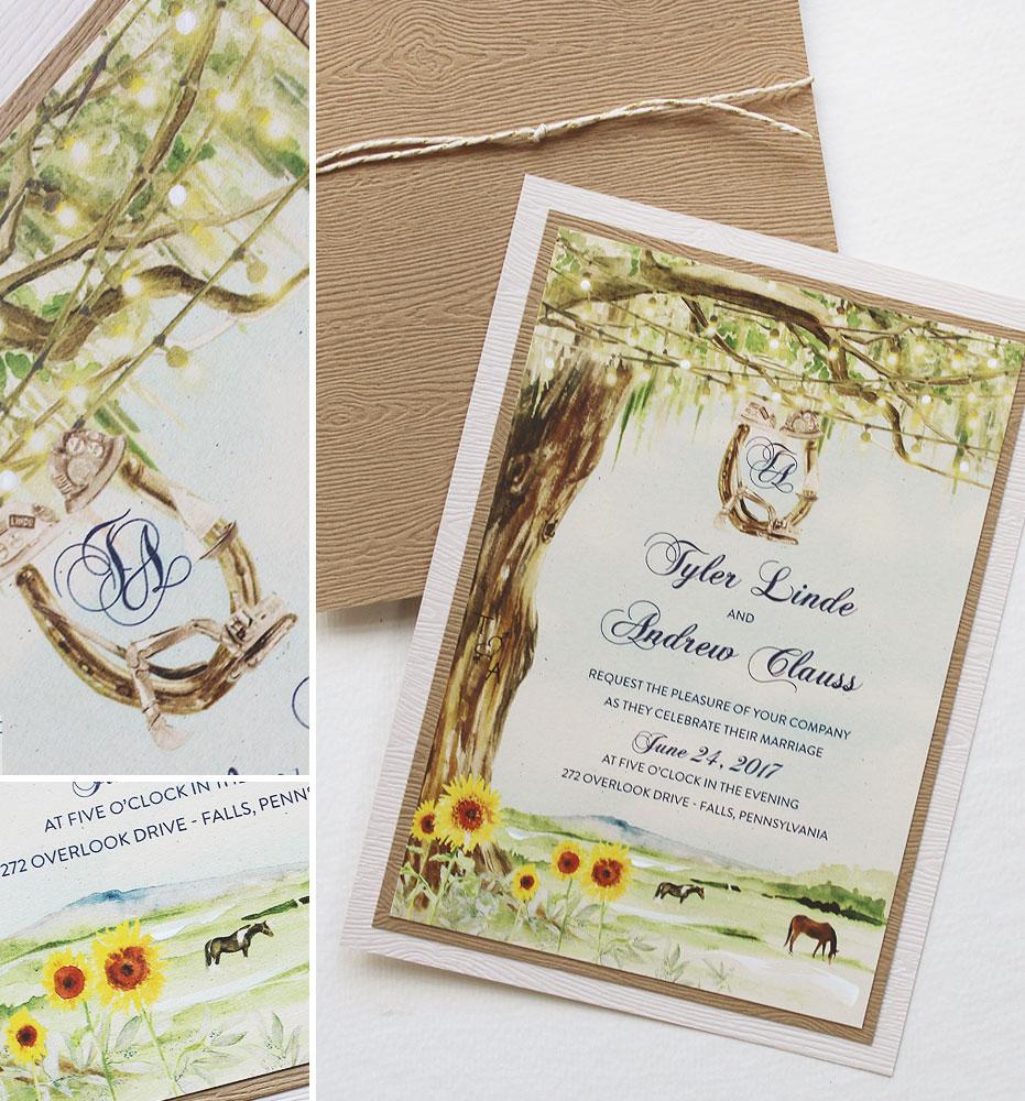 sumflower-wedding-invitation