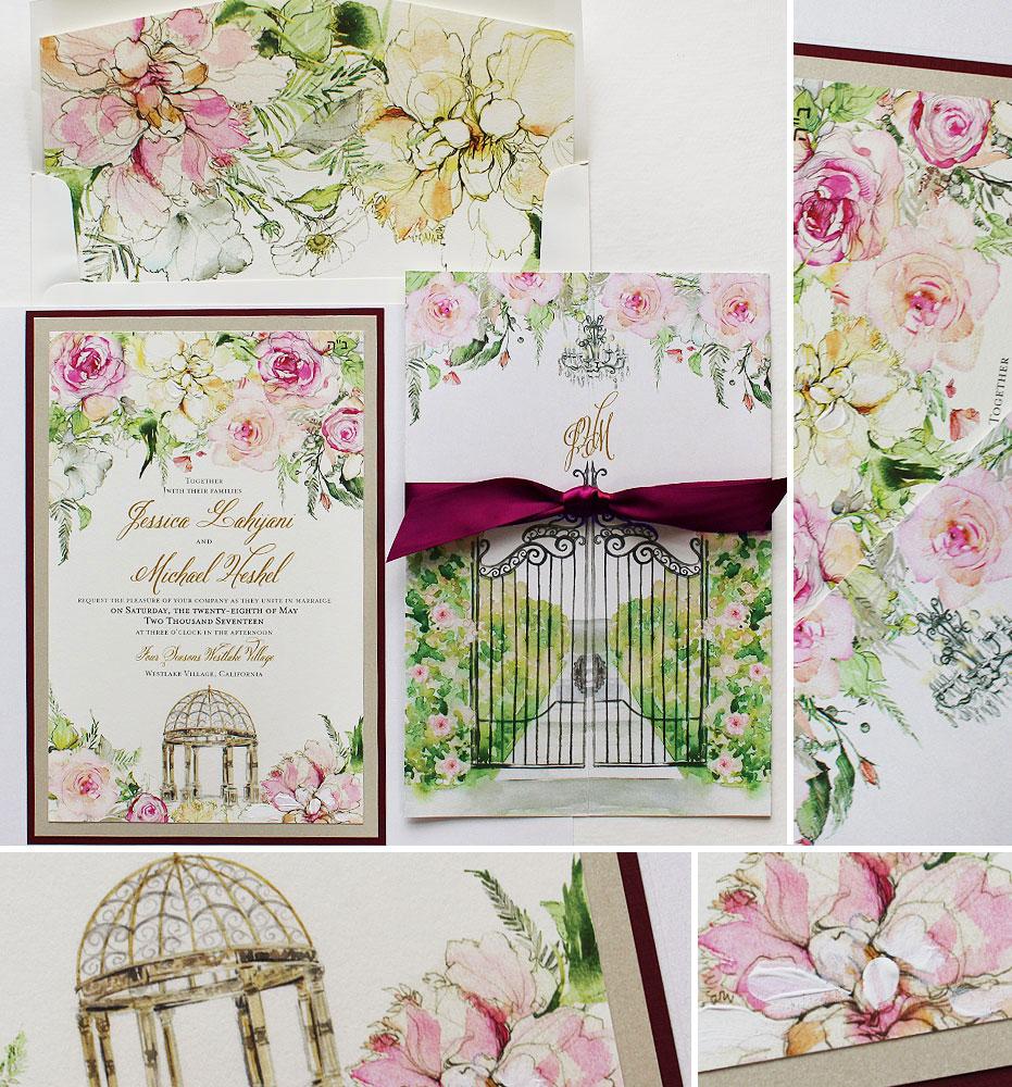 peony-wedding-invitation