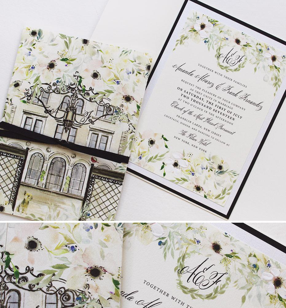 white-anemone-wedding-invitation
