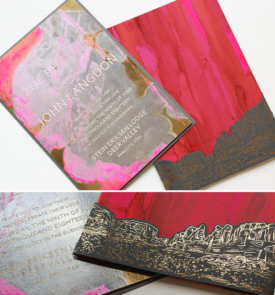 gold-foil-wedding-invitation