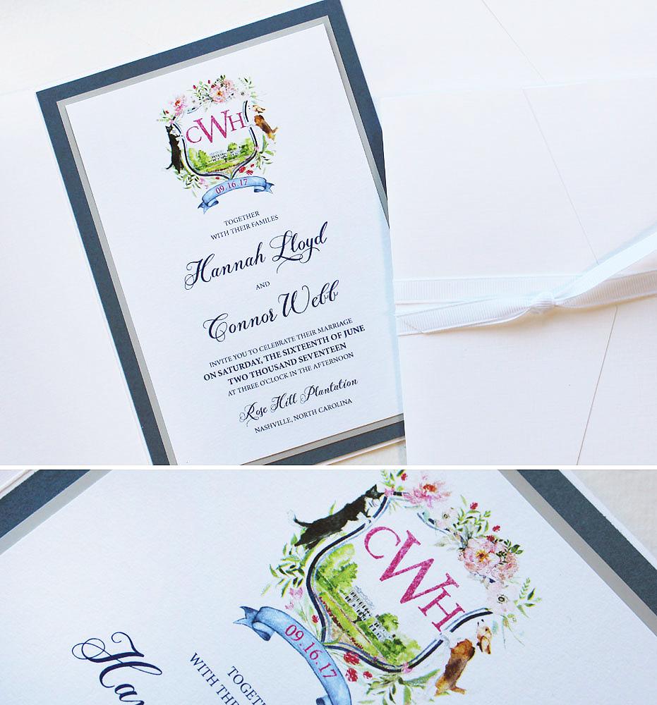 watercolor-crest-wedding-invitation