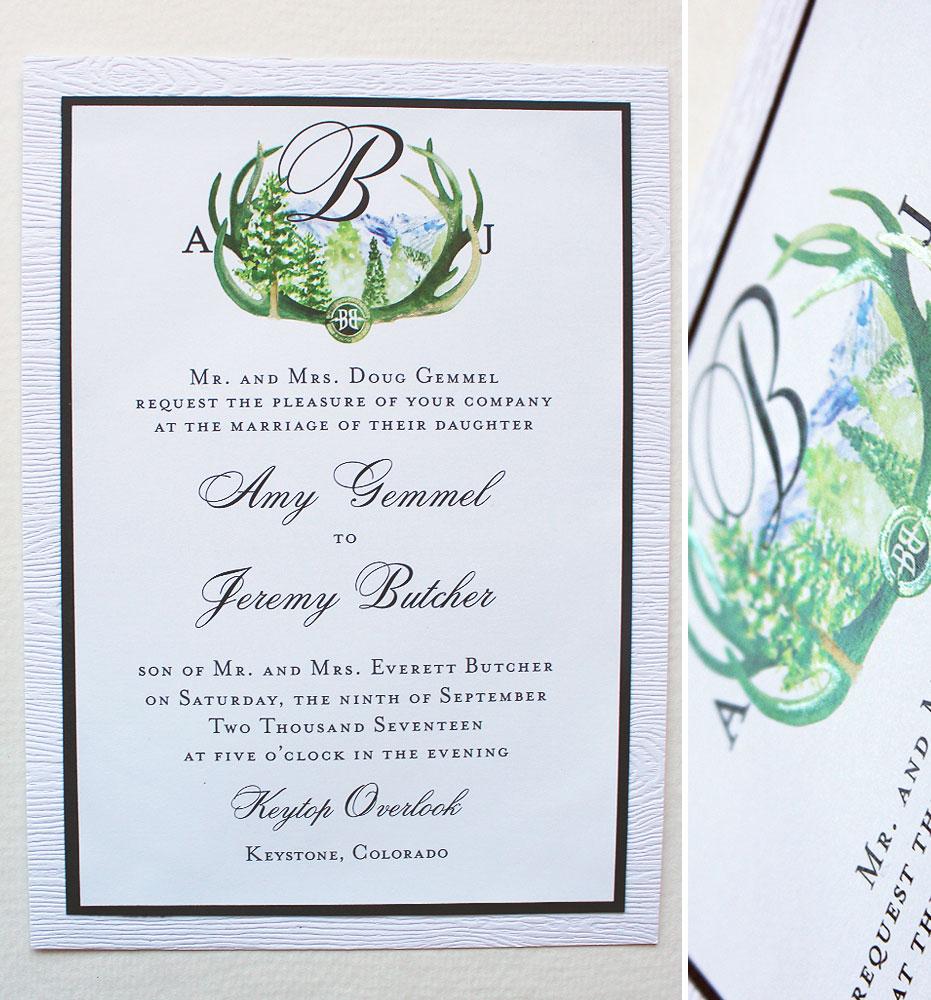 watercolor-crest-wedding-invitations