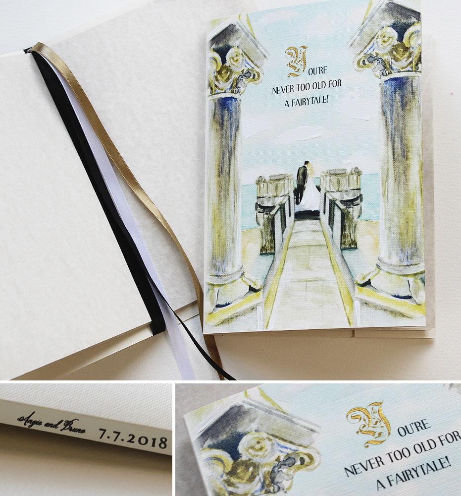 Handpainted Book Wedding Invitations