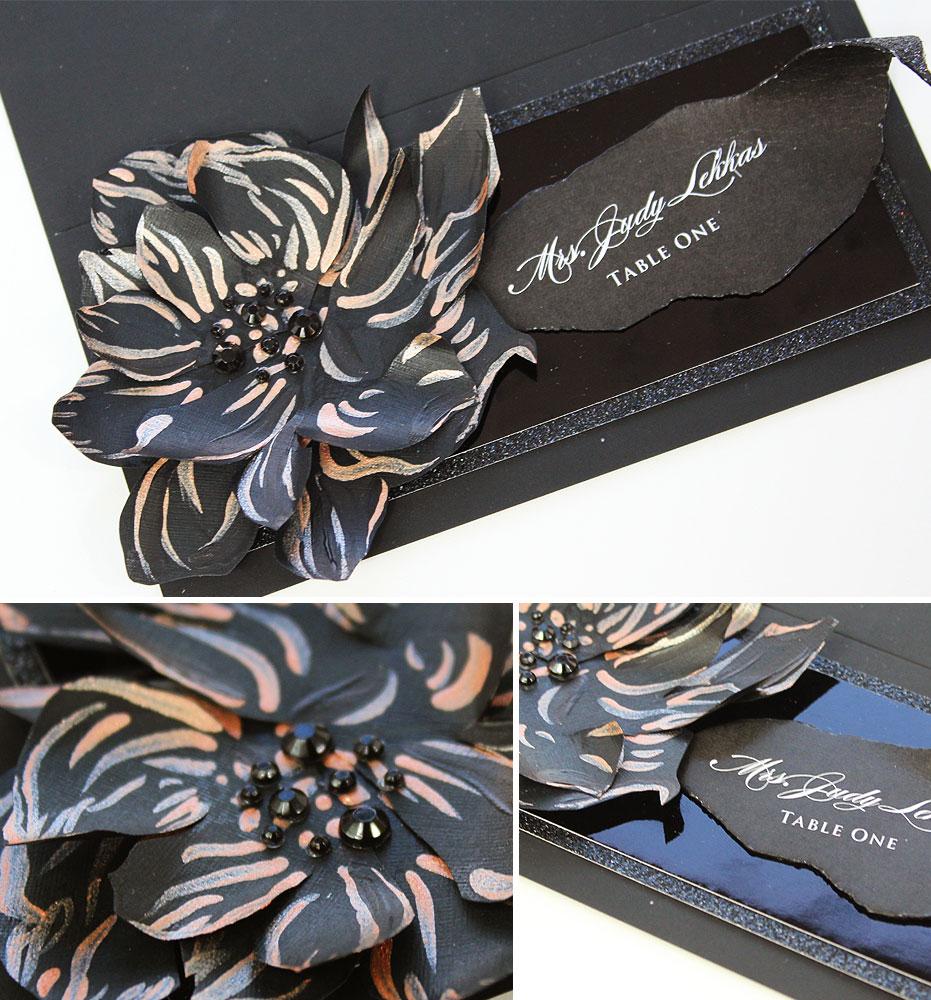 Sculpted Bloom Wedding Escort Cards