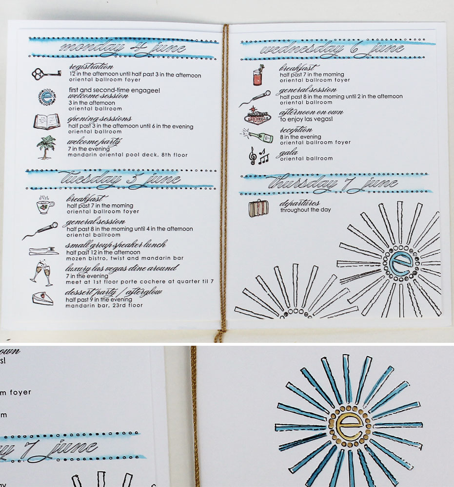hand-painted-corporate-event-itinerary