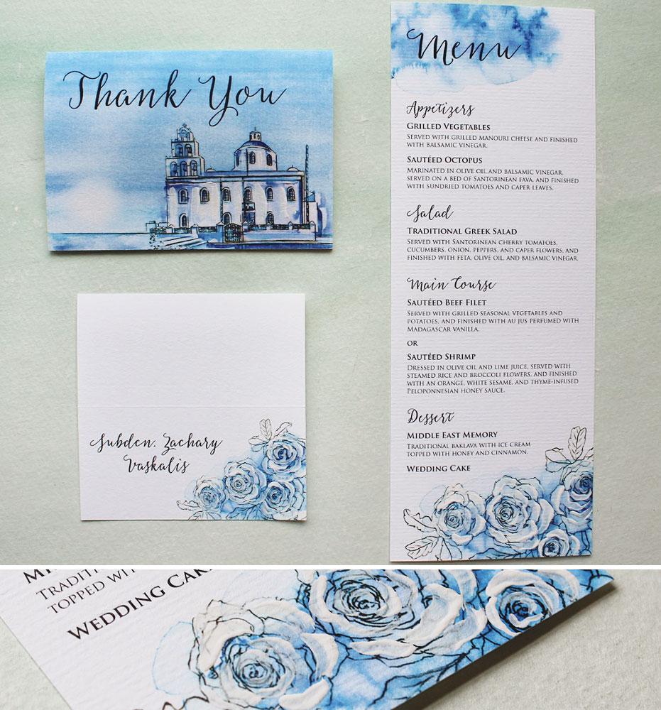 greece-watercolor-wedding-accessories