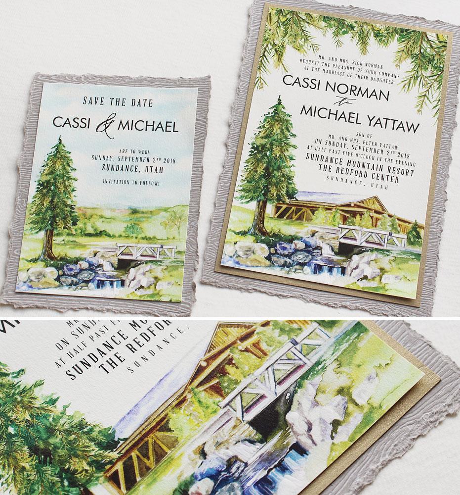 watercolor-woodland-wedding-invitation