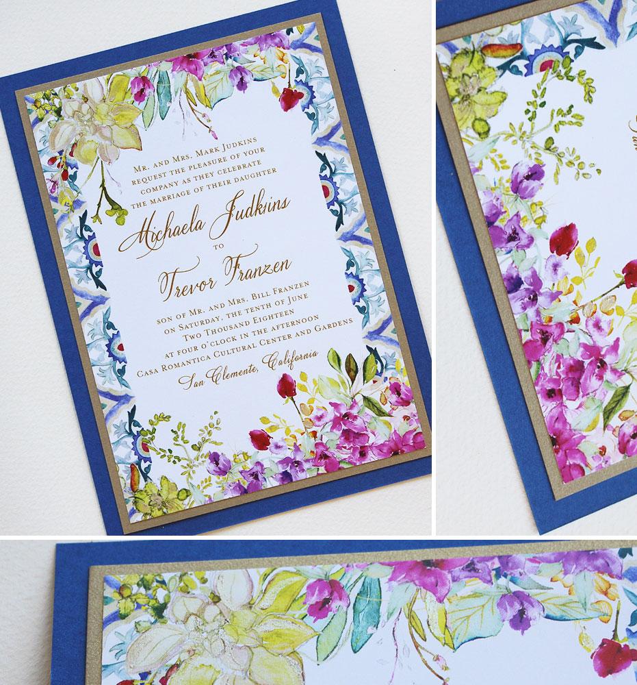 Tile Pattern Wedding Invitation