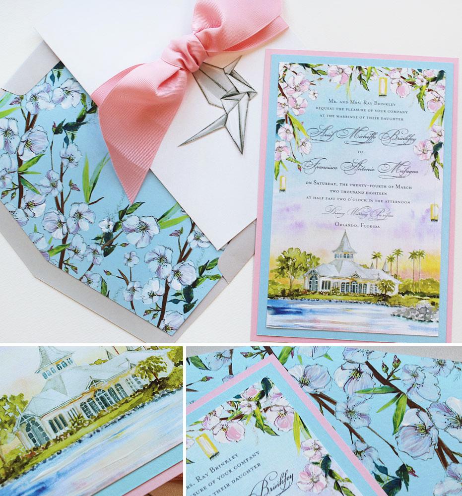 Florida Destination Wedding Invitations