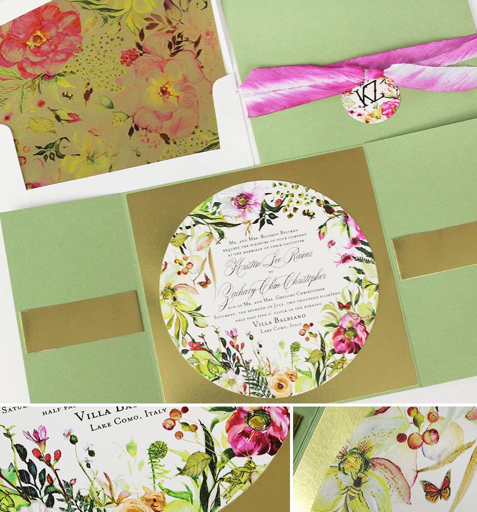 Botanical Italy Wedding Invitations